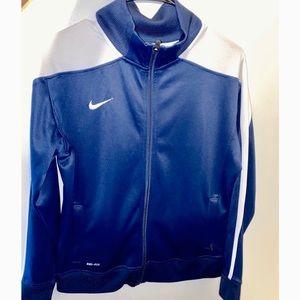 Navy blue and white Nike track jacket